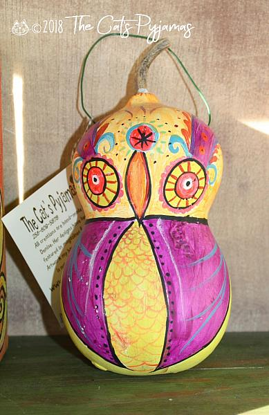 Painted Owl Gourd 6