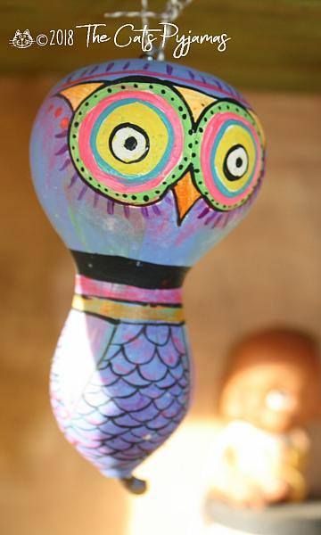 Painted Owl Gourd 15