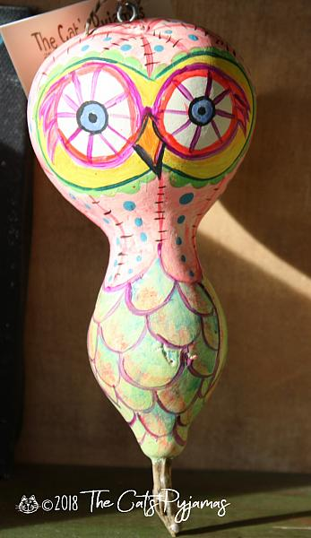 Painted Owl Gourd 12