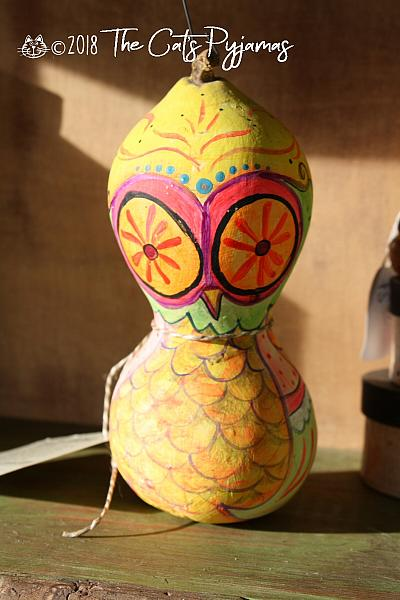 Painted Owl Gourd 16