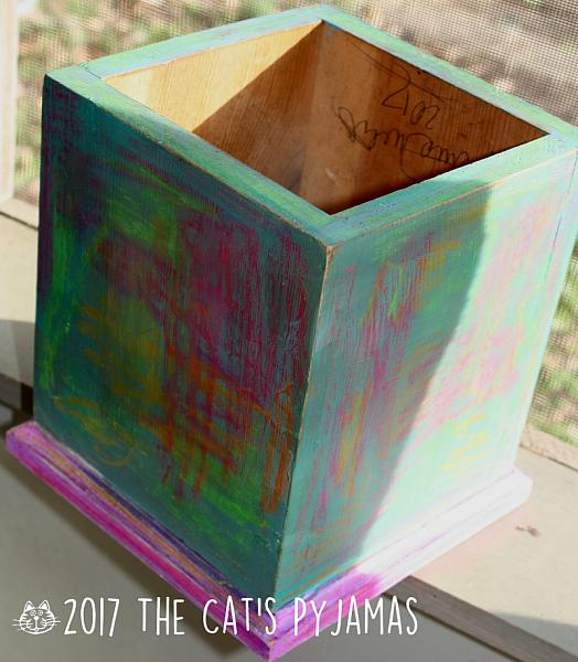 Funky Hand-painted box