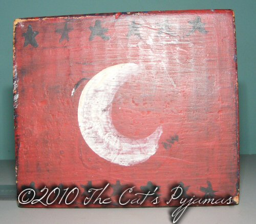Folk art Moon block