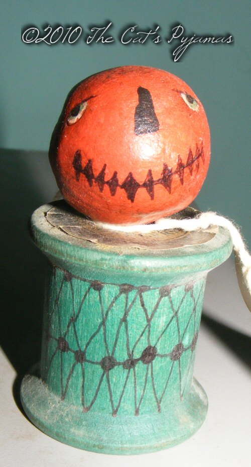 Jack-o-Lantern on a spool