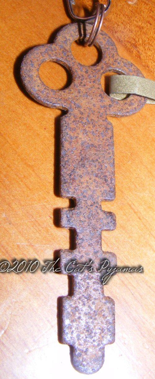 Vintage style rusty key