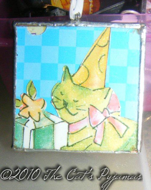 Birthday Cat pendant
