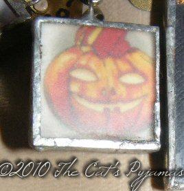 Scary Pumpkin Pendant