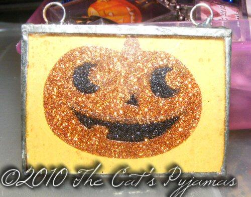 Sparkly Pumpkin Pendant