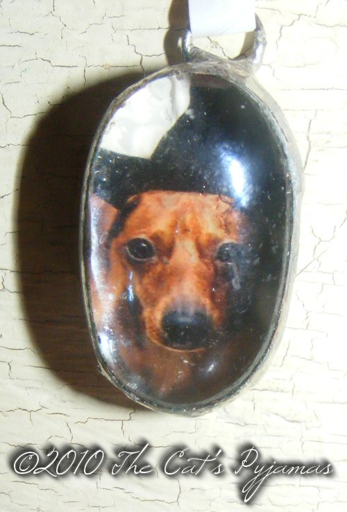 Dachshund Witch pendant