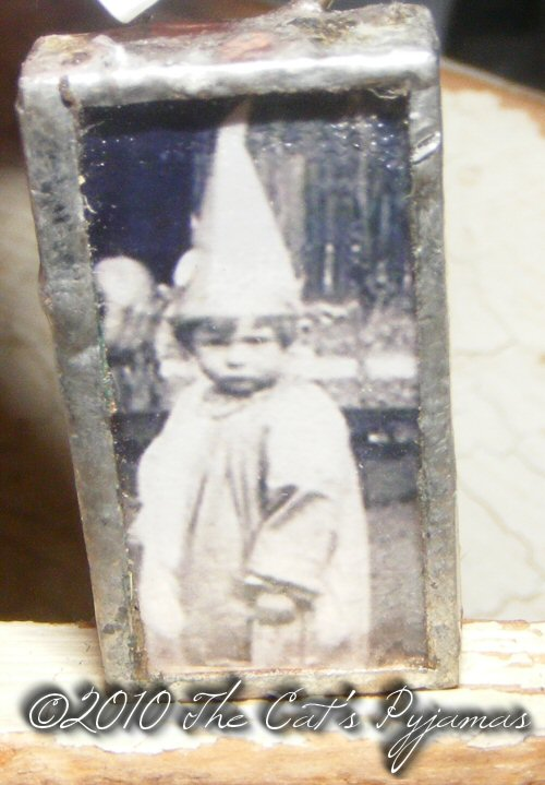 Vintage little girl witch costume Pendant