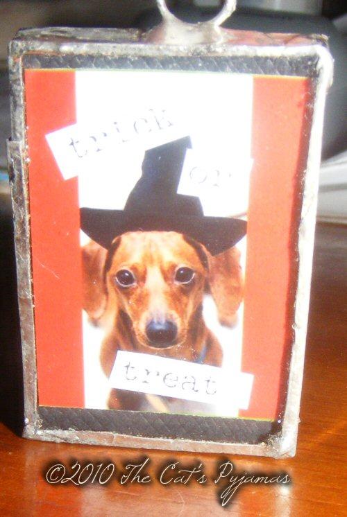 Weiner Dog Witch Pendant