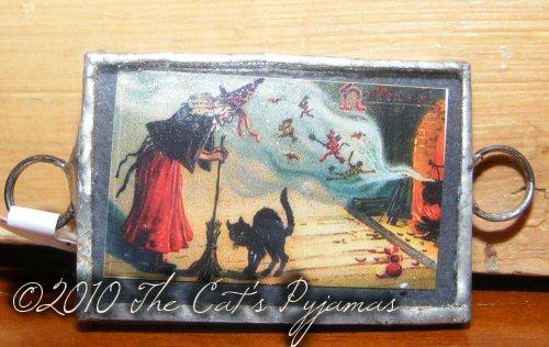 Witch & Black Cat Pendant