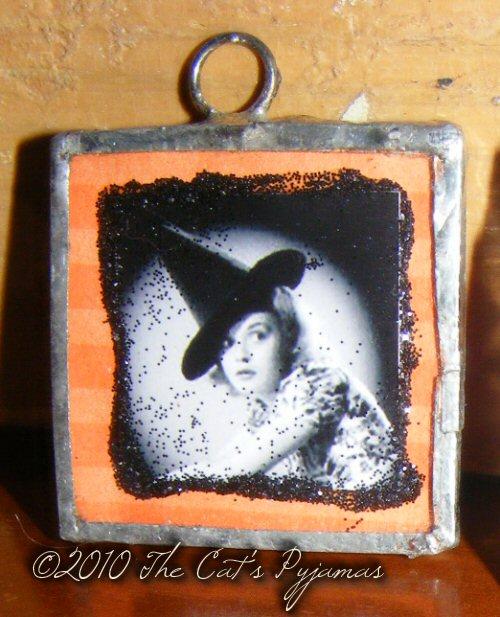 Vintage Witch pendant