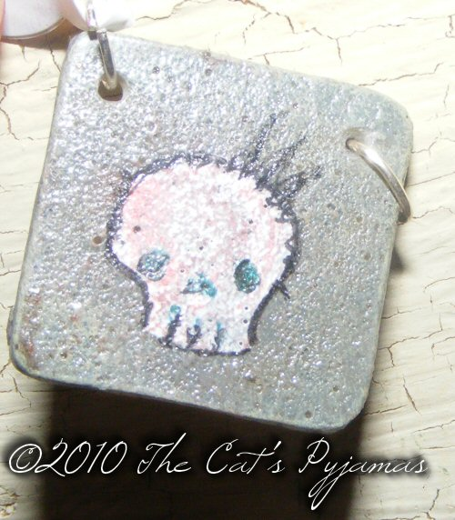 Skull with Crown pendant