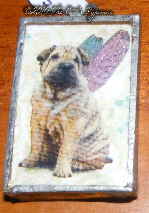 Sharpei Angel pendant