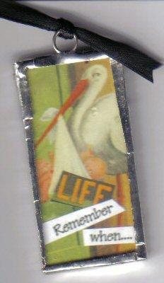 Stork pendant