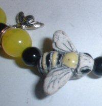 Bumble Bee Necklace & Bracelet Set