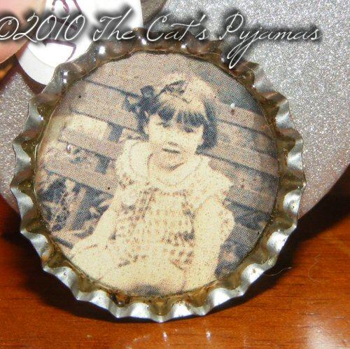 Farm Girl Bottle Cap pendant