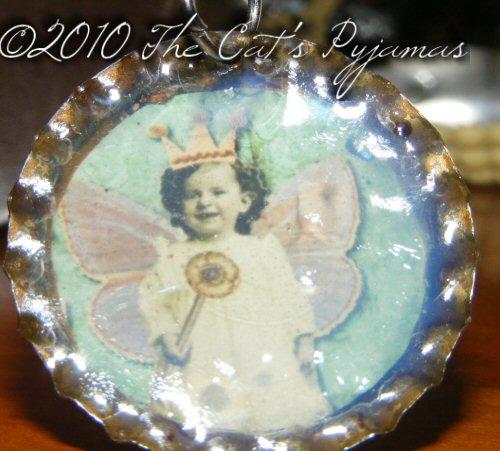 Little Fairy Bottle Cap Pendant