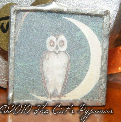 Owl & Moon pendant