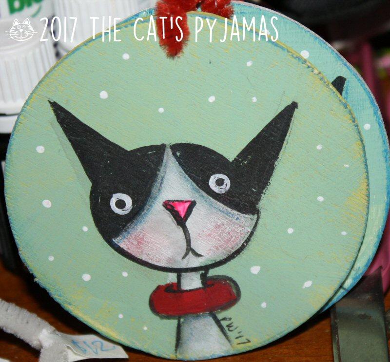 Black & White cat ornament