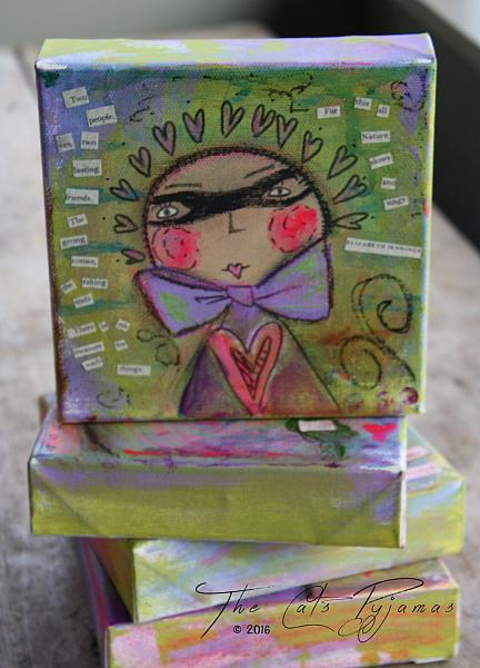 Whimsical Loverboy in Disguise painting