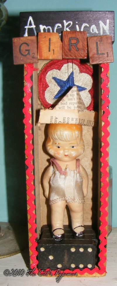 American Girl shadowbox