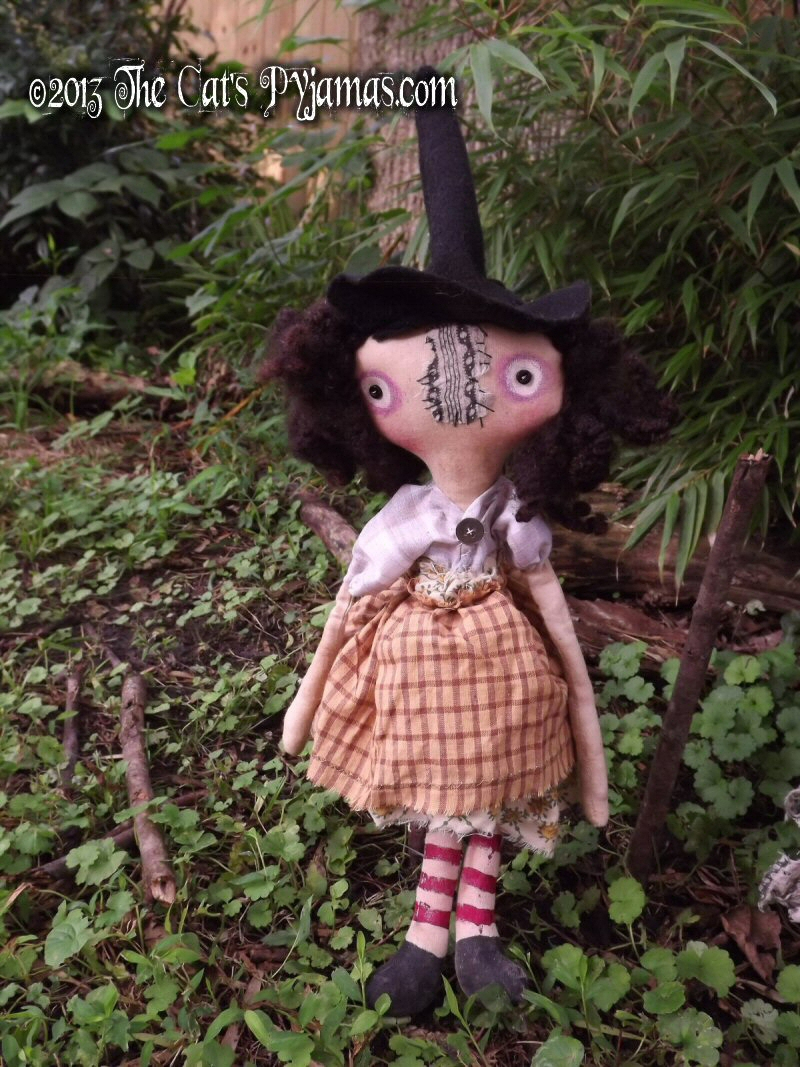 Wendy the Witch Doll-witch, doll, primitive, folk art, halloween, coven, gathering, wicca, soft sculpture