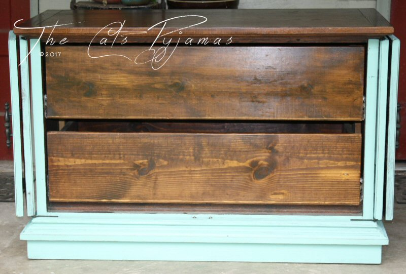 Upcycled Farmhouse TV stand with drawers