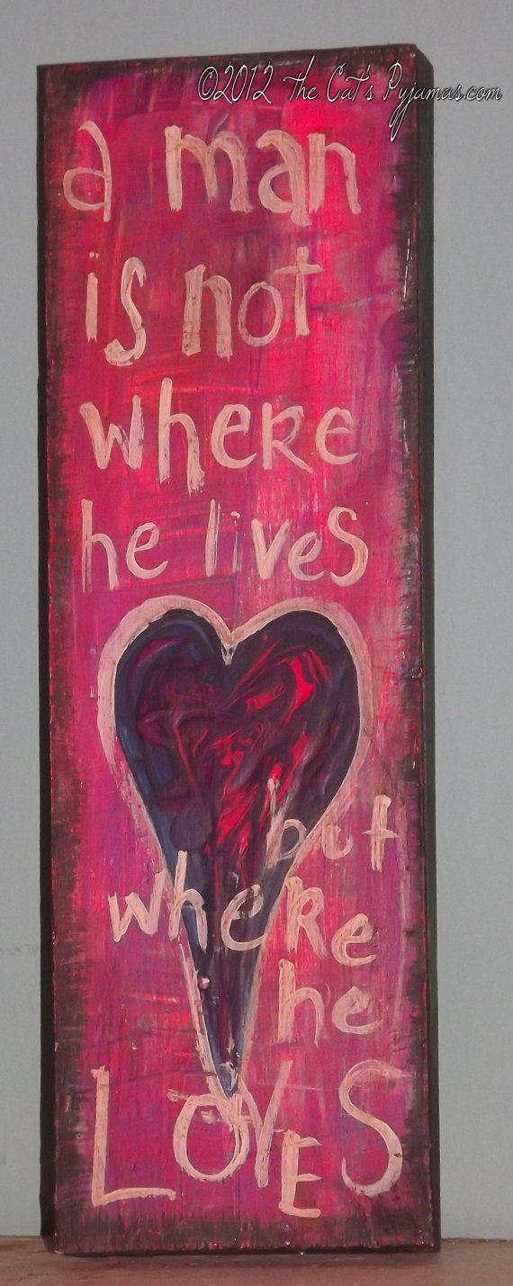 Folk Art Heart Painting Bright Neon Colors Love on Wood-painting, folk art owl, nursery art, neon colors, bright colors, owl art, big eyes, big eyed, Denise