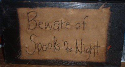 Beware of Spooks stitchery