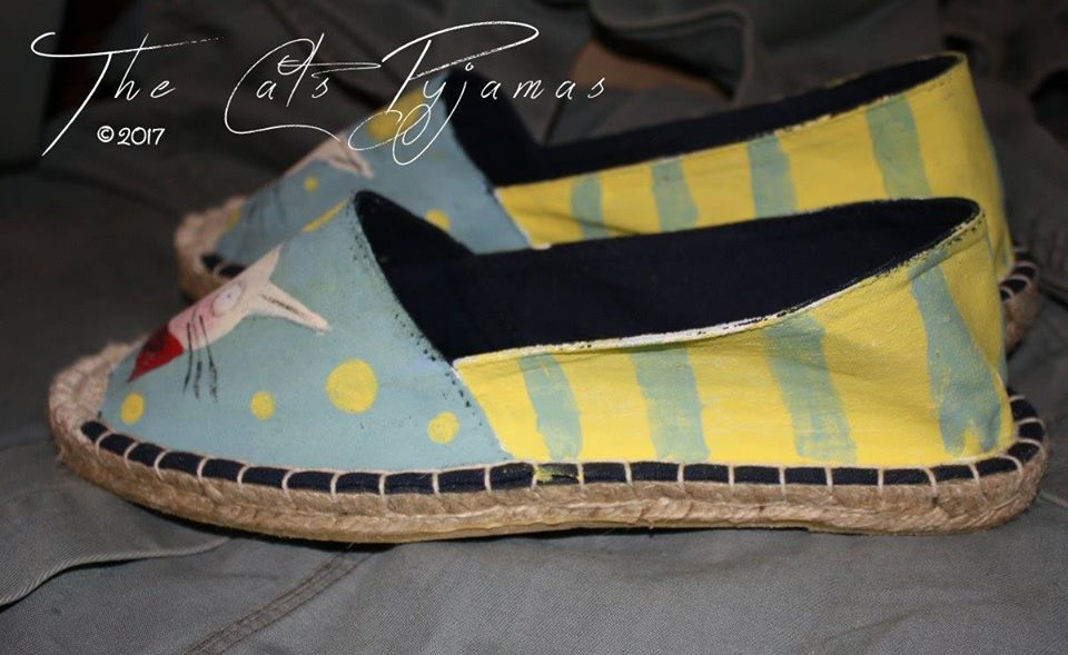Hand-painted Cat Shoes