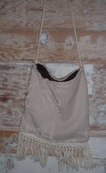 Chenille Purse with Brown Velvet Lining