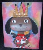 Diva  Doggie Painting