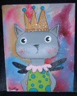 Diva Kitty Painting