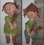 Flower Pickin' Ann & Andy.....SOLD!