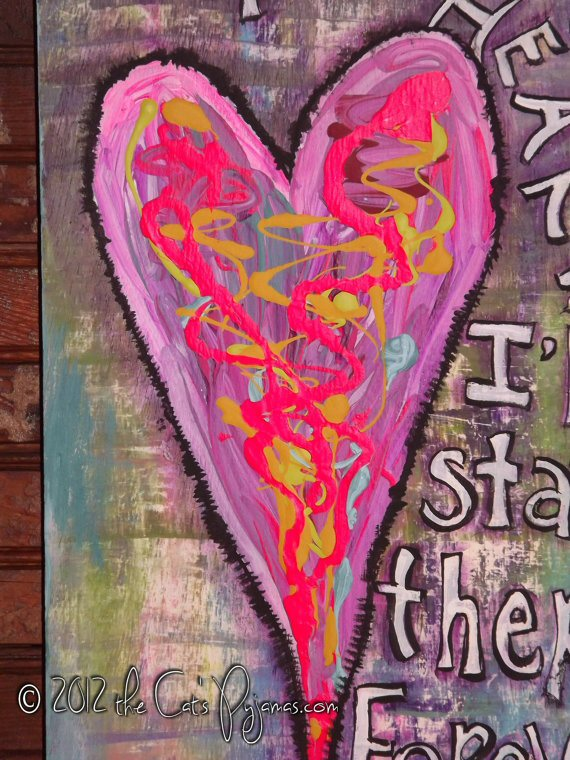 Funky HeaRt painting