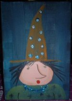 Glittery Witch Painting.....SOLD!