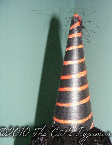Orange & Black spiral hat