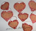 Heart Face Wooden Ornaments