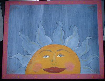 Funky Sun Painting