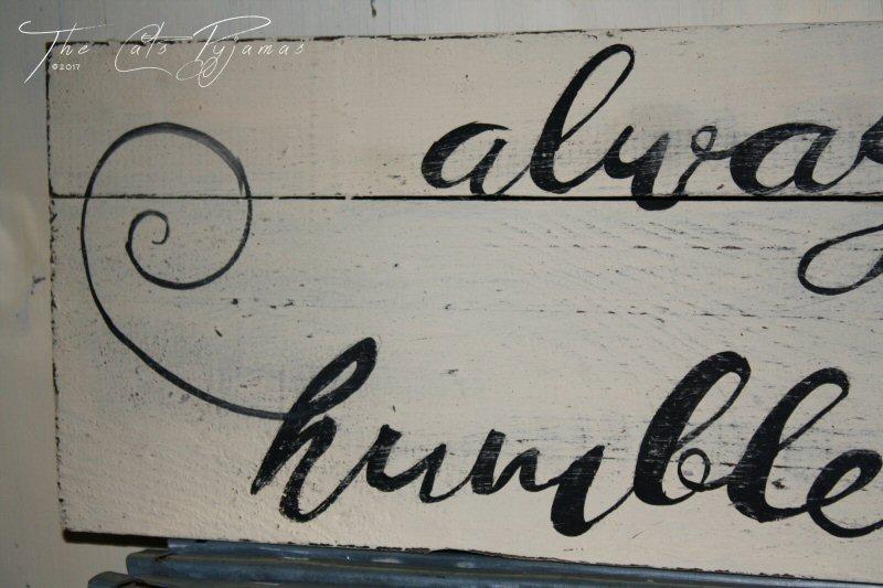 Humble & Kind sign