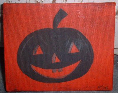 Jack-o-Lantern  Silhouette Painting