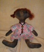 """Joy"" Primitive Black Doll"