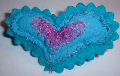 Teal Heart Pin