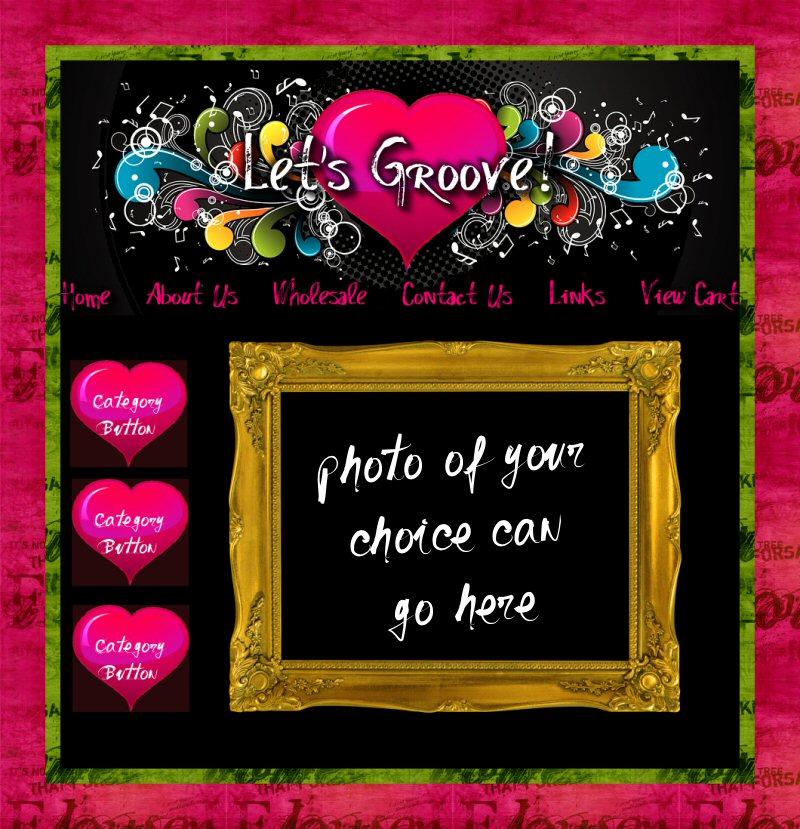 Let's Groove website graphics