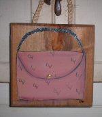 """LV """"Louis Vuitton"""" purse painting"""