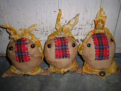 Ornaments in Yellow Headrags