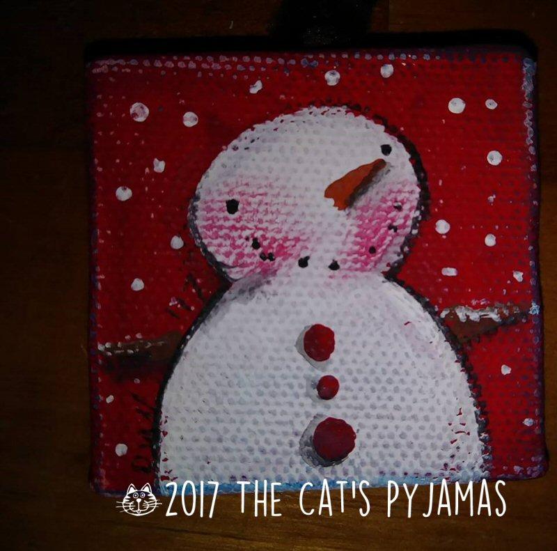Snowman ornament 025