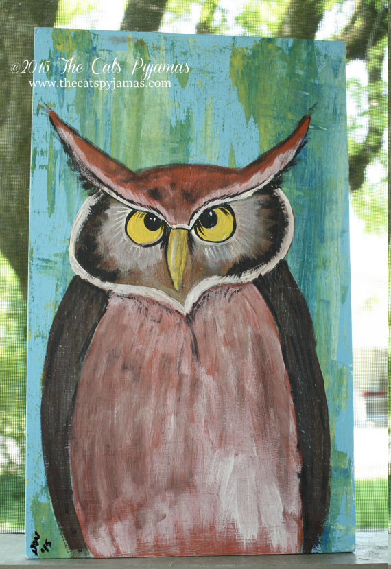 Big Owl painting