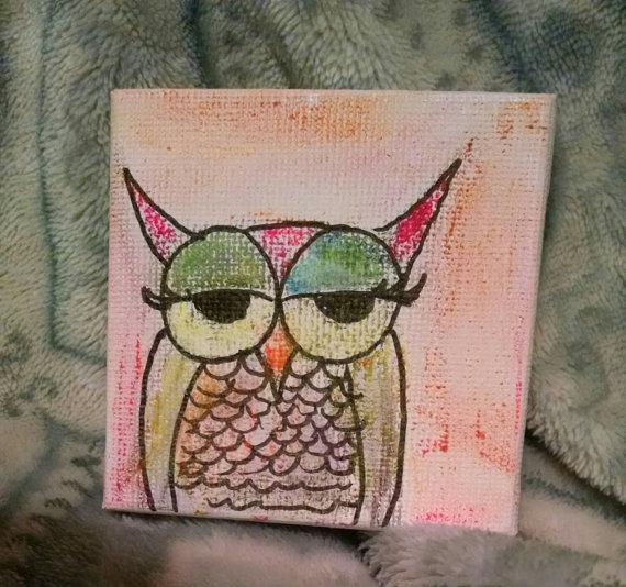 Owl Tiny Canvas